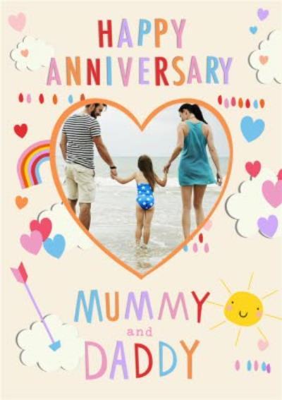 Happy Anniversary photo upload Card - Mummy and Daddy