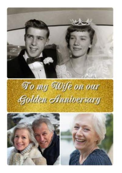 Golden Anniversary Photo Upload Card For Wife