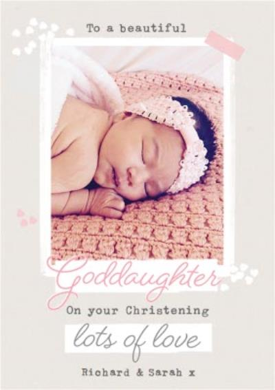 Goddaughter On Your Christening Photo Upload Card