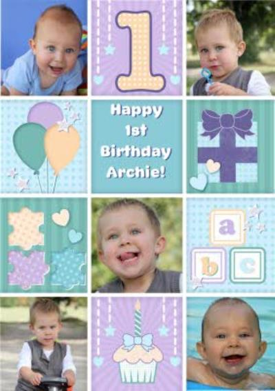 Photo First Birthday Card