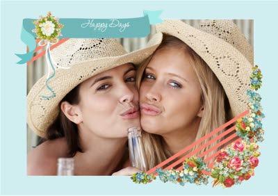 Happy Days Photo Upload Card