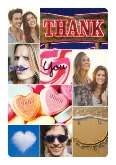 White Border Eclectic Personalised Photo Upload Thank You Card