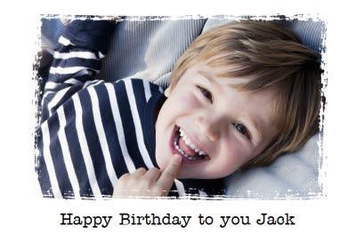 Kids Photo Birthday Card