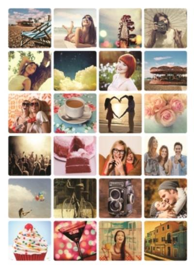 24 Photo Birthday Upload Card