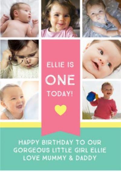 1st Birthday Photo Card
