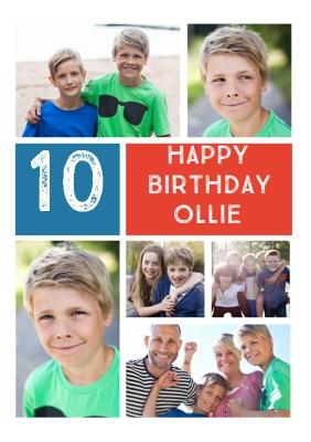 Photo Brothers Birthday Card
