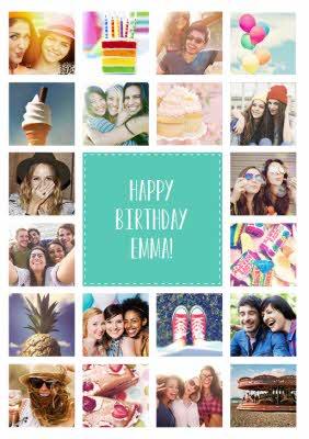 Landscape Personalised Photo Upload Greetings Card Multiple Birthday