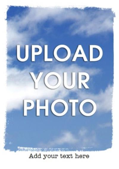 Grungy Border Portrait Personalised Photo Upload Happy Birthday Card