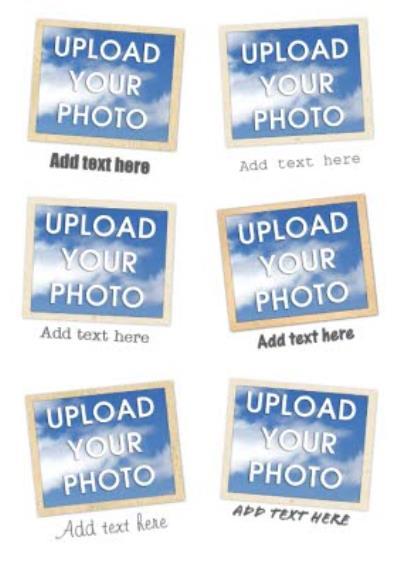 Instant Photo Personalised Multi Photo Upload Birthday Card