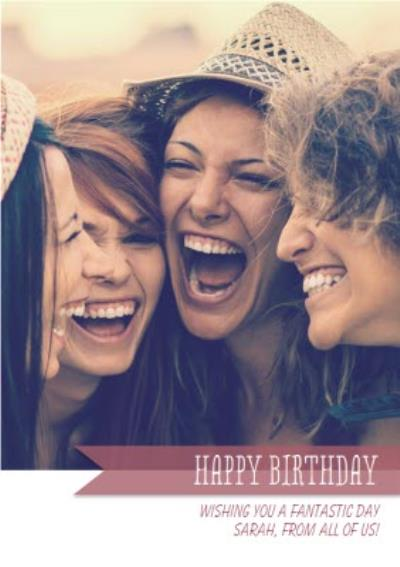 Single Photo And Personalised Text Card