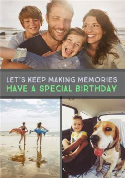 Multi-Photo And Personalised Text Card