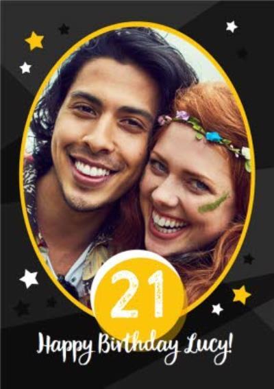 21st Birthday Card - Photo Upload twenty first birthday card