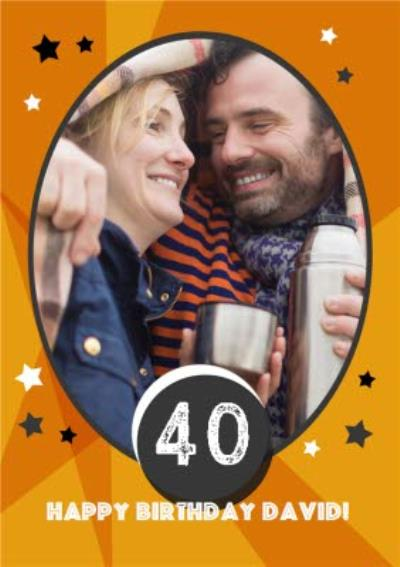 Customised 40th Birthday Cards - Use your own pictures to create a photo birthday card