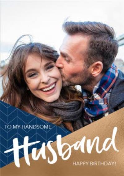 Husband Photo Upload Birthday Card