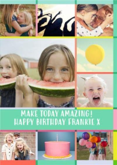 Birthday 9 Photo Upload Card