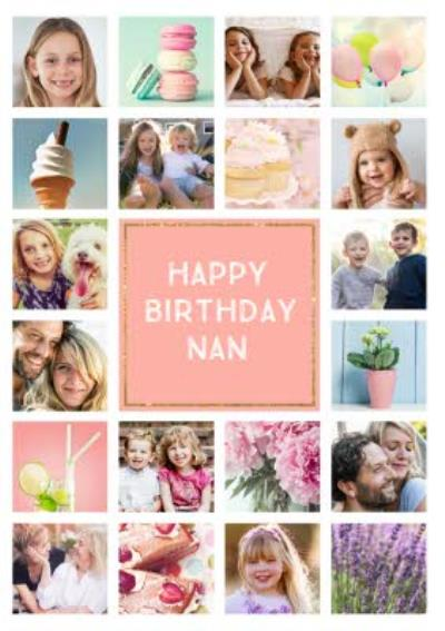 Birthday Card - Photo Upload Card - 20 Photos - Nan