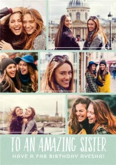 Birthday Card - Photo Upload Card - Sister
