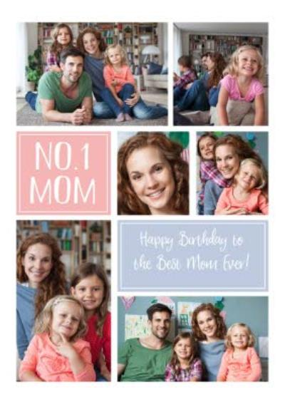 Birthday Card - Photo Upload Card - No.1 Mum
