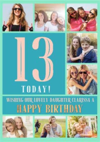 Multi Photo Upload 13th Birthday Card