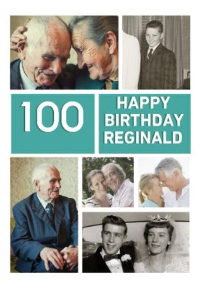 Amazing Centenarian Multi Photo Upload Birthday Card