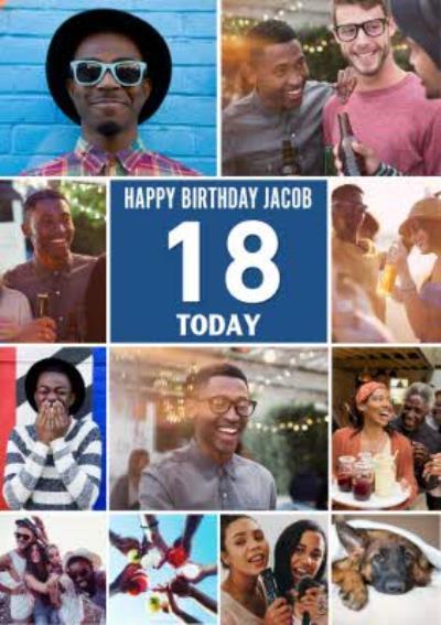 Multiple Photo Upload Happy 18th Birthday Card
