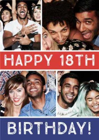 Multiple Photo Upload 18th Birthday Card