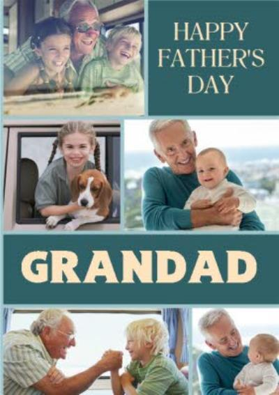 Father's Day Card - Happy Father's Day Grandad - Photo Upload