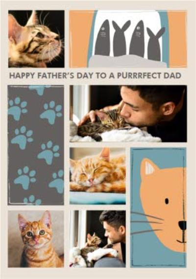 Purrrfect Dad From The Pet Photo Upload Father's Day Card