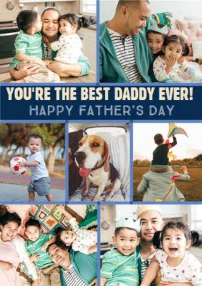 Best Daddy Ever Photo Upload Father's Day Card