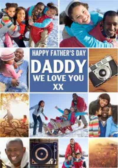 Modern Framed Photo Upload Father's Day Card