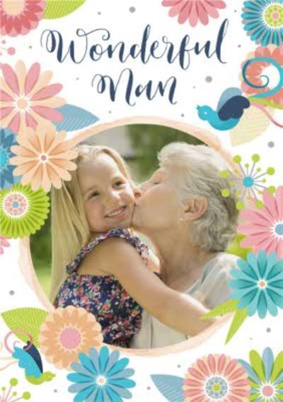 Mother's Day Card - Wonderful Nan - Photo Upload Card