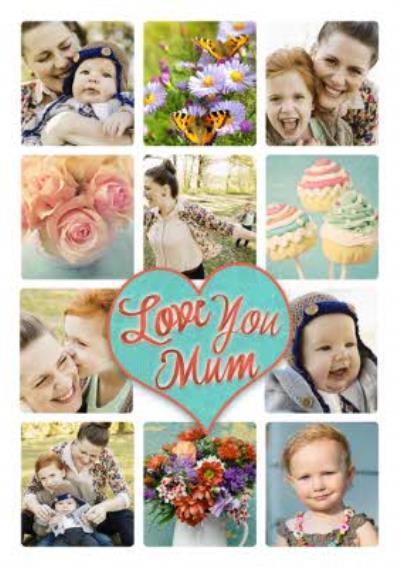 Love You Mum Multi-Photo Upload Card