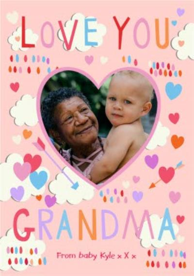 Mother's Day Card Photo Upload Card Love You Grandma
