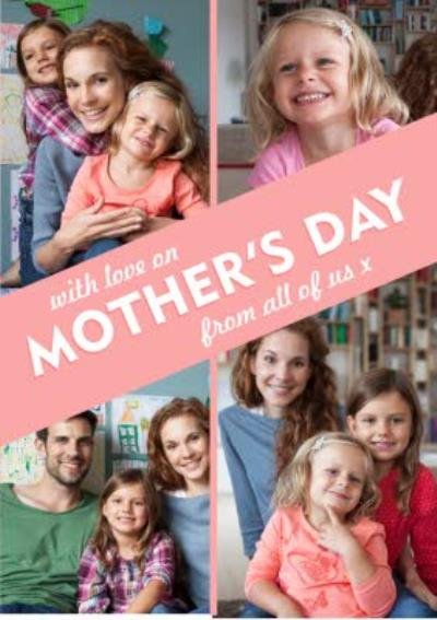Mother's Day Card - photo upload card - 4 photos