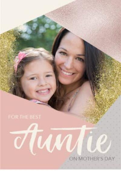 Mother's Day card - Best Auntie - photo upload
