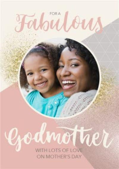 Mother's Day Card - Godmother - photo upload card