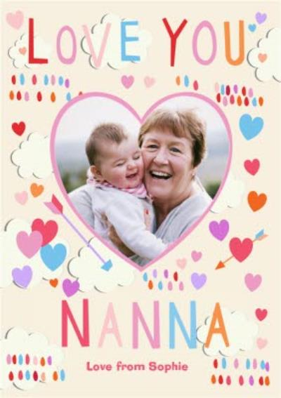 Mother's Day Card - Love you Nanna - Photo Upload