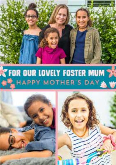 For Our Lovely Foster Mum Photo Upload Mothers Day Card