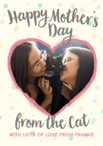 Mother's Day Card - from the cat - photo upload card