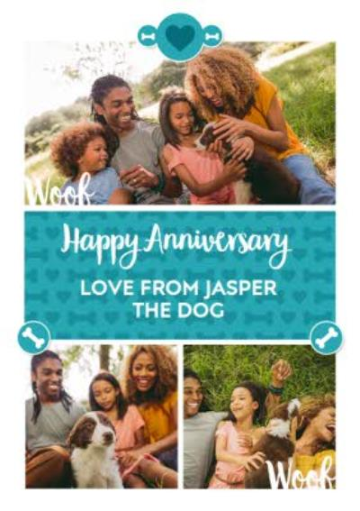 From The Dog Photo Upload Anniversary Card