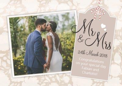 Mr & Mrs Photo Upload Card