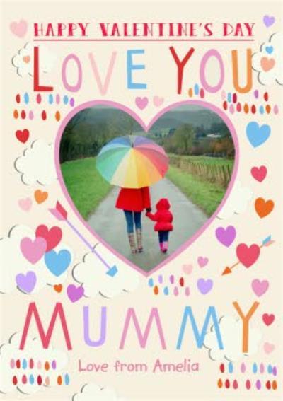 I Love You Mummy Personalised Photo Upload Card