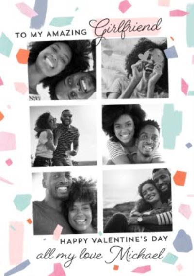 To My Amazing Girlfriend Photo Upload Valentine's Day Card