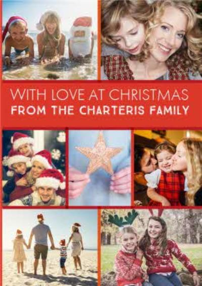 With Love At Christmas Photo Upload Card