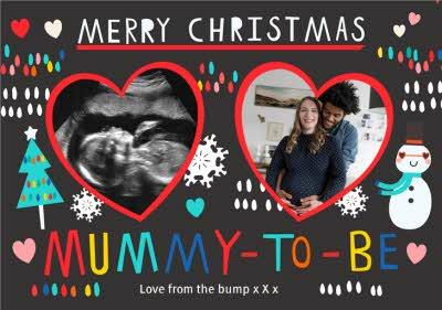 Merry Christmas Mummy To Be Photo Upload Christmas Card