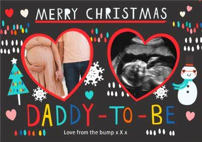 Merry Christmas Daddy To Be Photo Upload Christmas Card