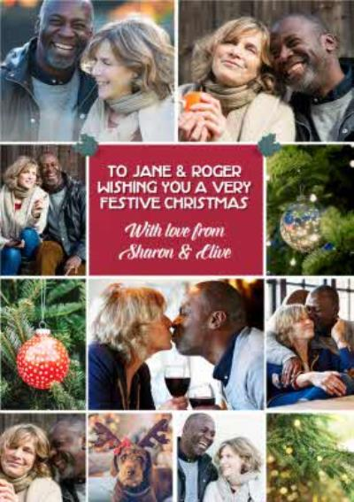 Multiple Photo Upload Christmas Card From The Both Of Us