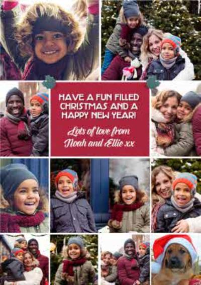 From The Kids Multiple Photo Upload Christmas Card