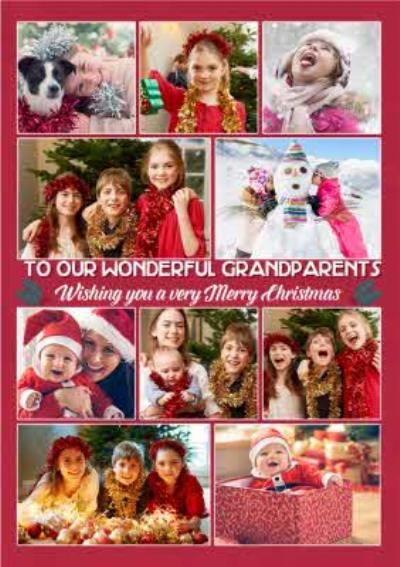 From The Kids Multiple Photo Upload Christmas Card For Grandparents