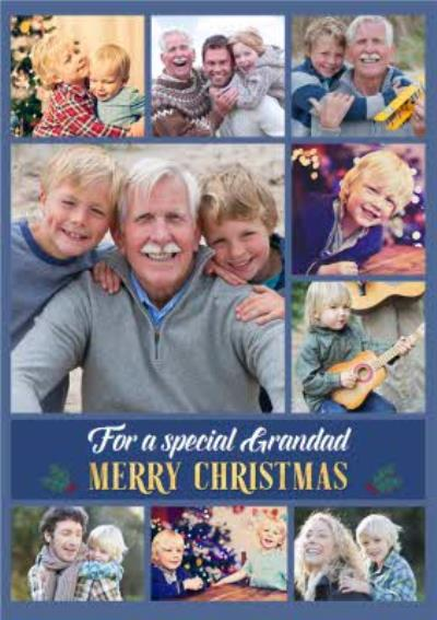 Multiple Photo Upload Christmas Card For Grandad